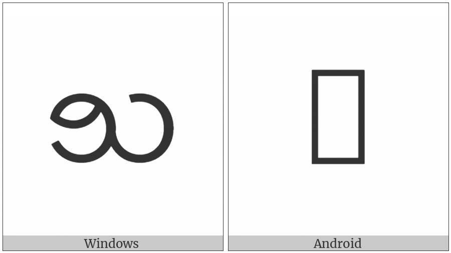 Myanmar Letter Shan Cha on various operating systems