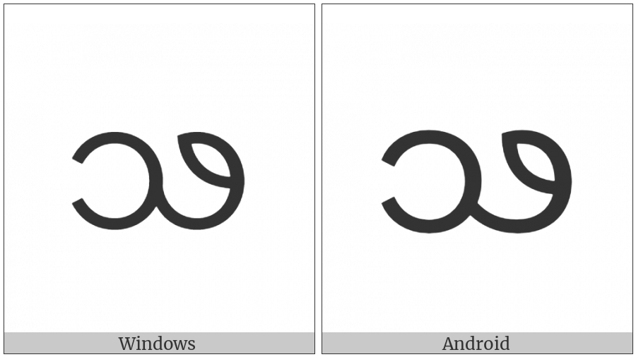 Myanmar Letter Shan Jha on various operating systems
