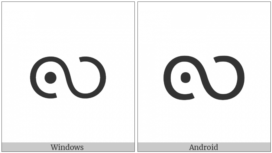 Myanmar Letter Tai Laing Lla on various operating systems