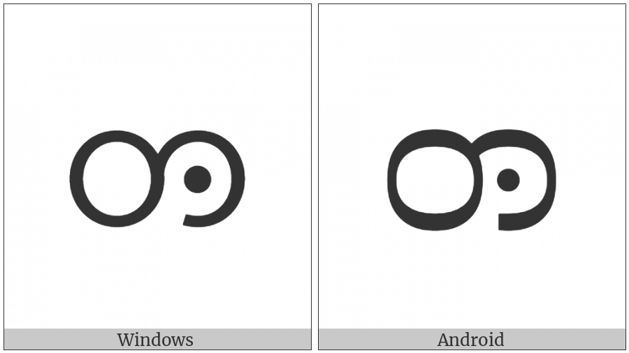 Myanmar Letter Tai Laing Da on various operating systems