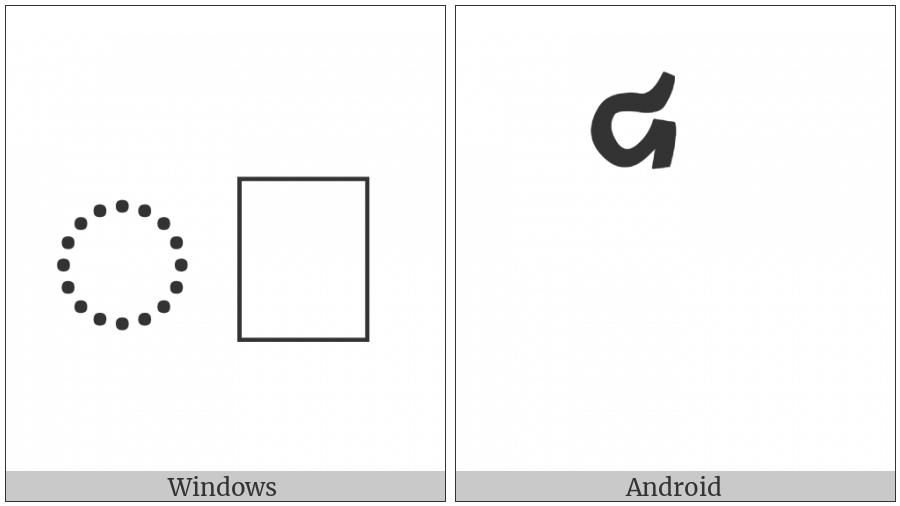 Cham Vowel Sign Au on various operating systems