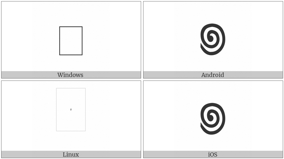 Cham Punctuation Spiral on various operating systems