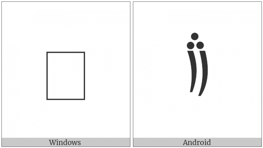 Cham Punctuation Double Danda on various operating systems
