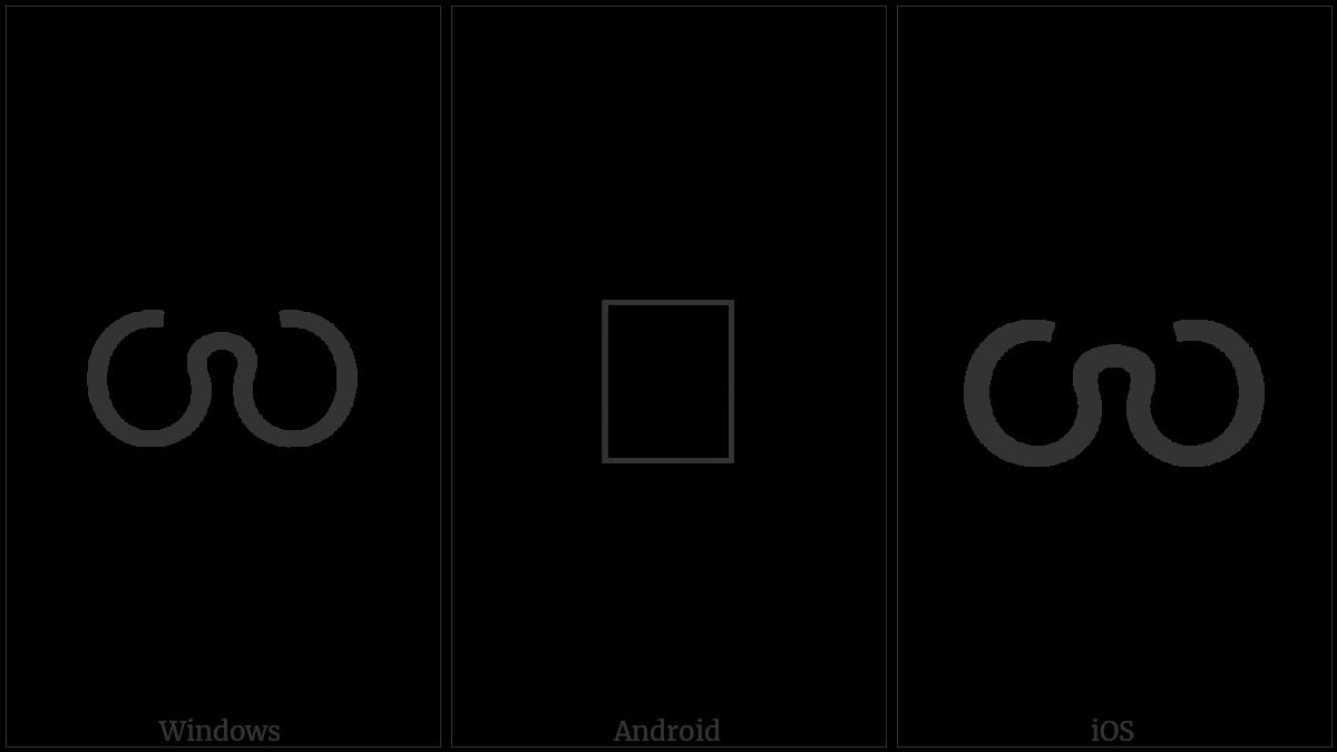 Myanmar Letter Khamti Sa on various operating systems
