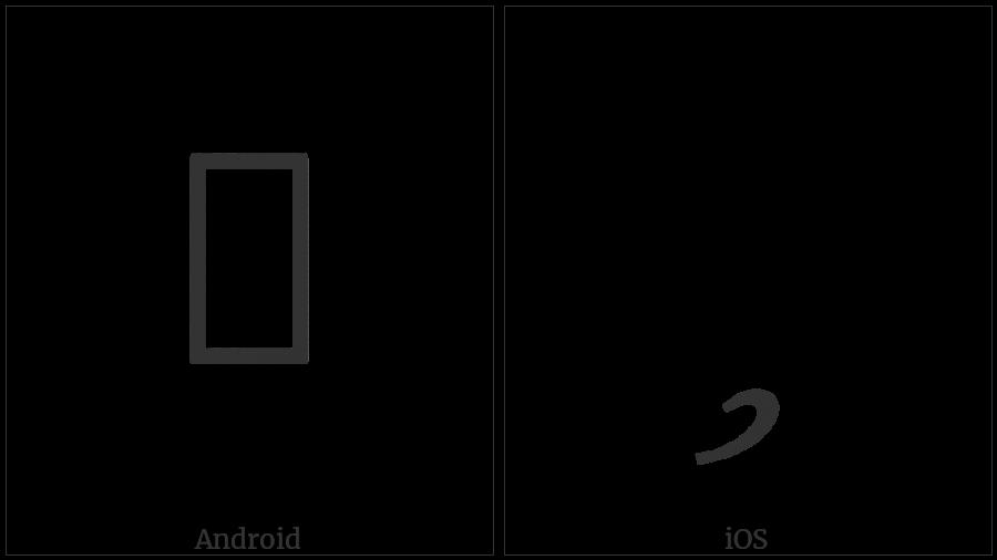 Tai Viet Vowel U on various operating systems