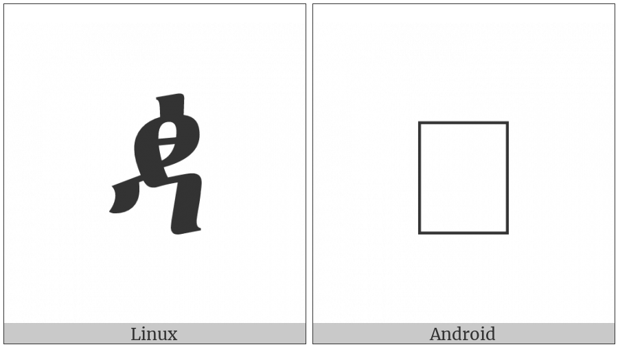 Ethiopic Syllable Ddhaa on various operating systems