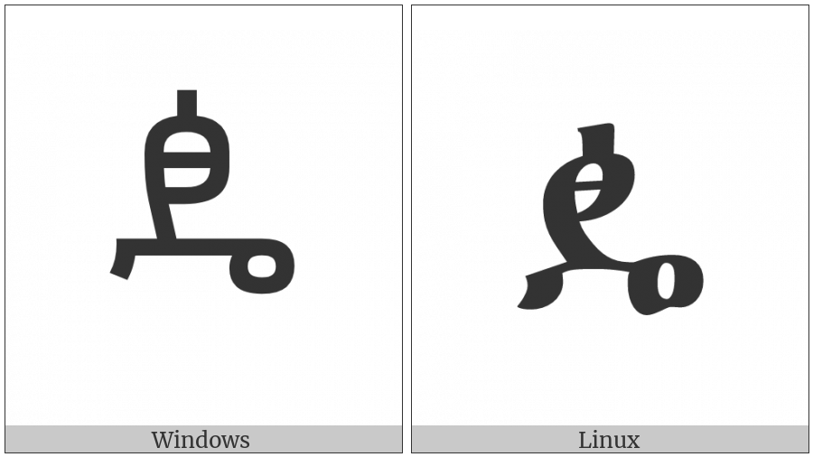 Ethiopic Syllable Ddhee on various operating systems