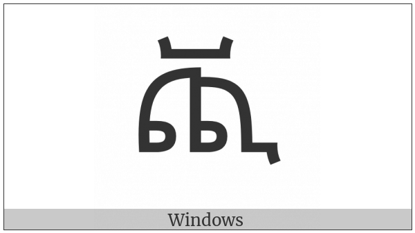 Ethiopic Syllable Cchhi on various operating systems