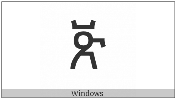 Ethiopic Syllable Bbe on various operating systems