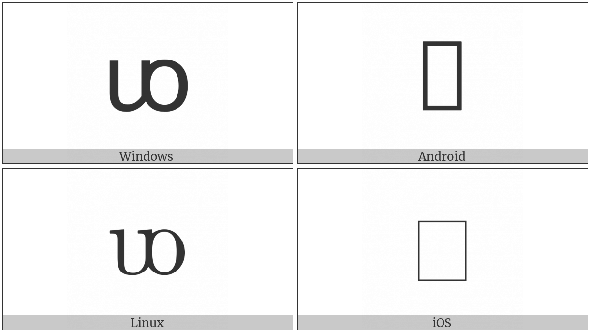 Latin Small Letter Uo on various operating systems