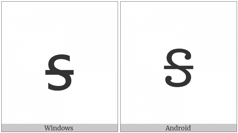 Cherokee Small Letter Ga on various operating systems
