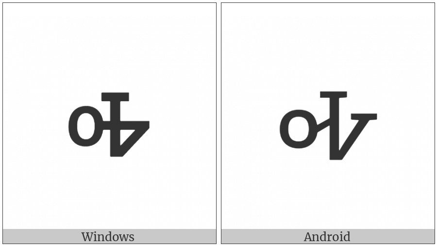 Cherokee Small Letter Ha on various operating systems
