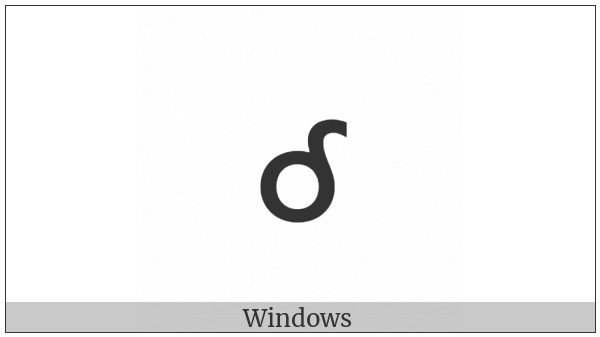 Cherokee Small Letter Le on various operating systems