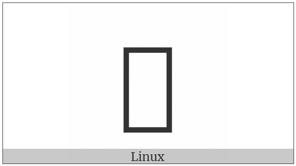 Cherokee Small Letter Nu on various operating systems