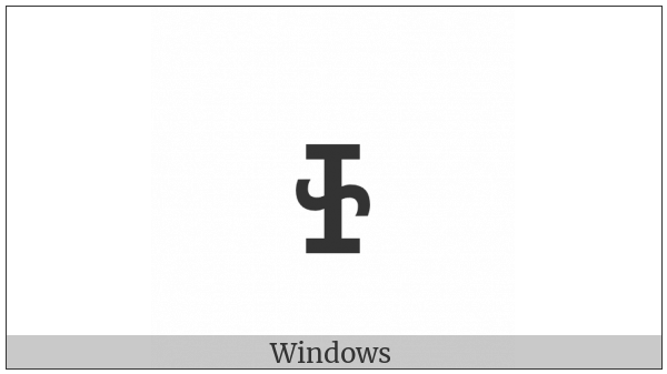 Cherokee Small Letter So on various operating systems