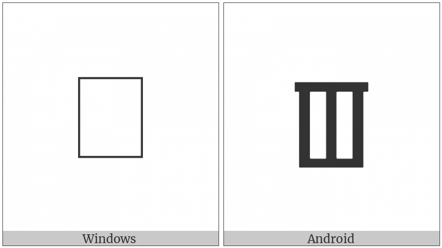 Meetei Mayek Letter Ngou Lonsum on various operating systems