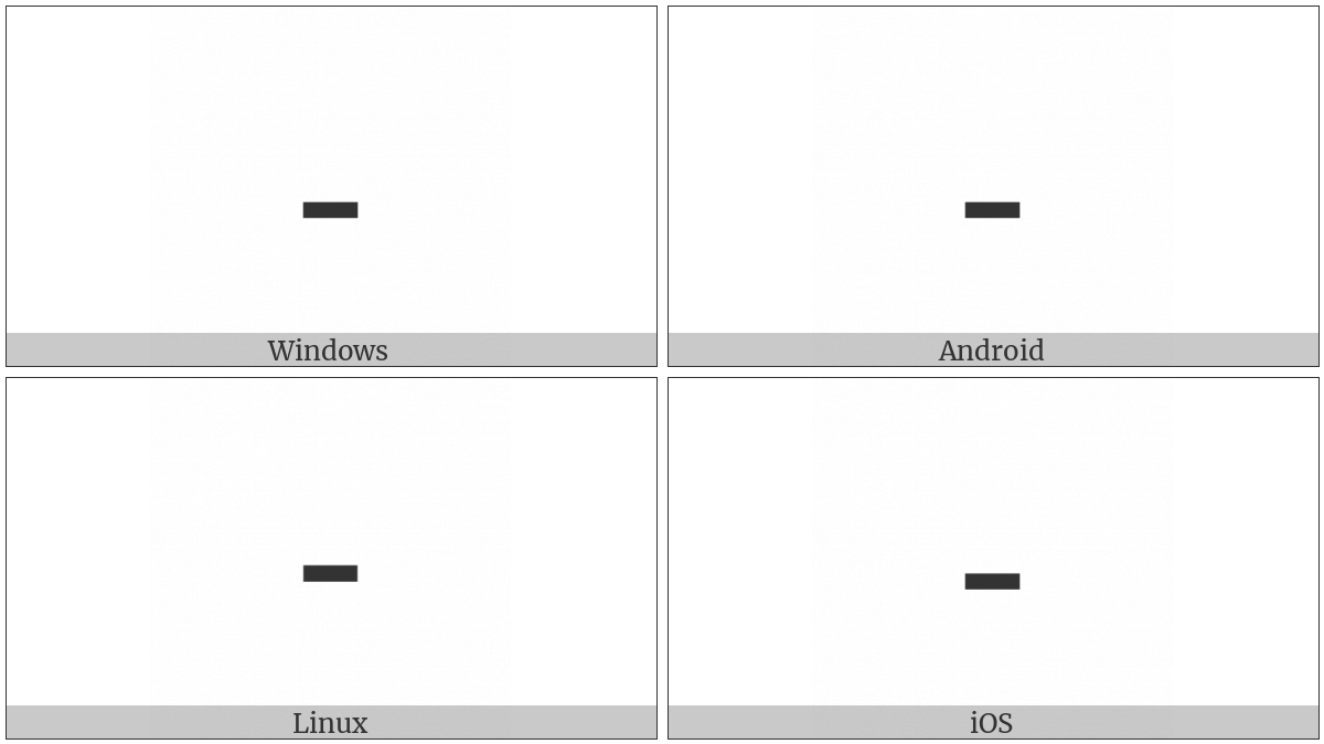 Hyphen-Minus on various operating systems