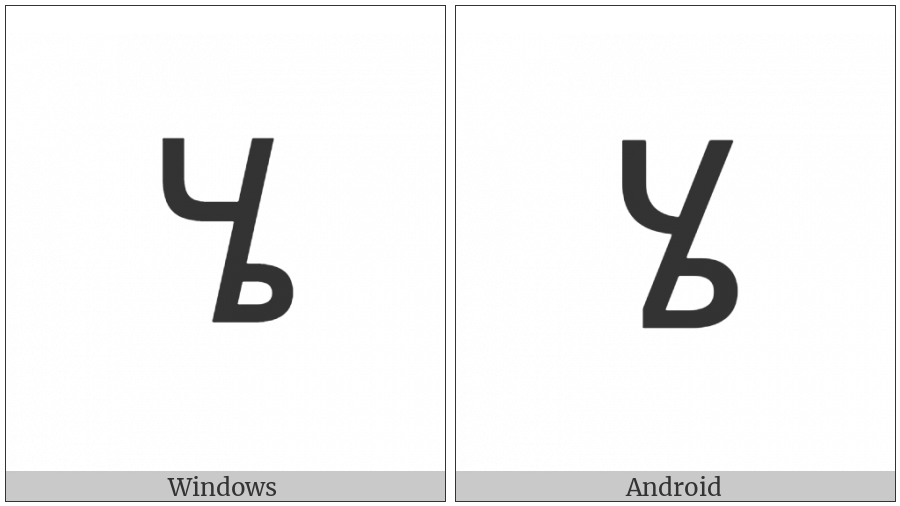 Ethiopic Syllable Hee on various operating systems