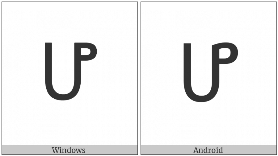 Ethiopic Syllable Ho on various operating systems