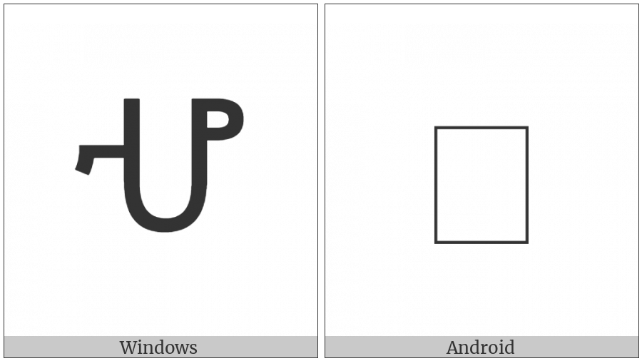 Ethiopic Syllable Hoa on various operating systems