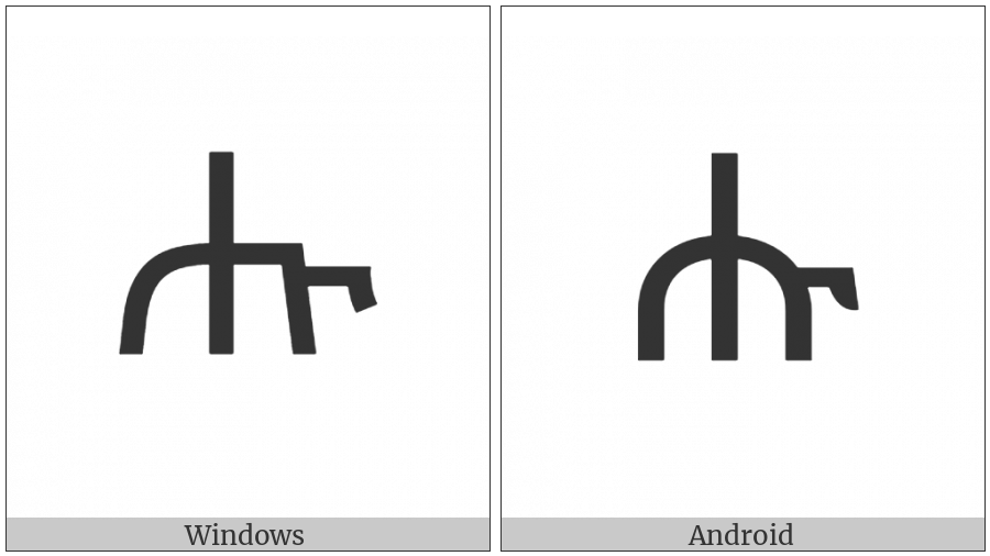 Ethiopic Syllable Hhu on various operating systems