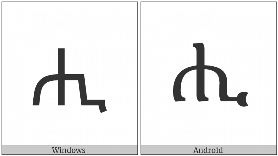Ethiopic Syllable Hhi on various operating systems