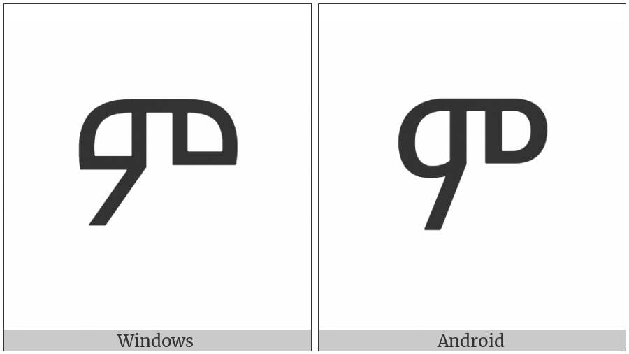 Ethiopic Syllable Me on various operating systems