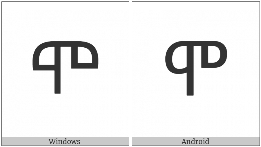 Ethiopic Syllable Mo on various operating systems