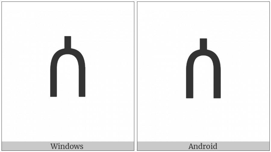 Ethiopic Syllable Sa on various operating systems