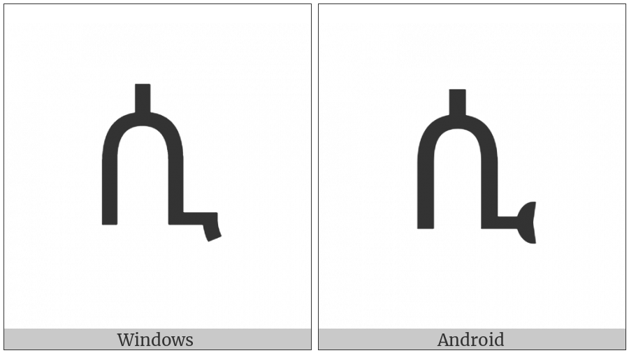 Ethiopic Syllable Si on various operating systems