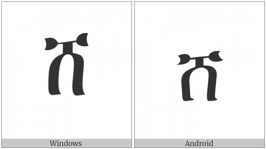 Ethiopic Syllable Sha on various operating systems