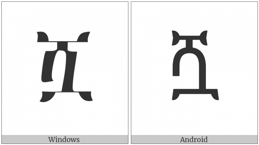 Ethiopic Syllable Shwa on various operating systems