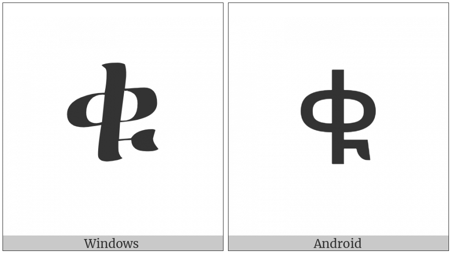 Ethiopic Syllable Qu on various operating systems