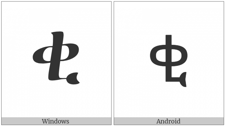 Ethiopic Syllable Qi on various operating systems
