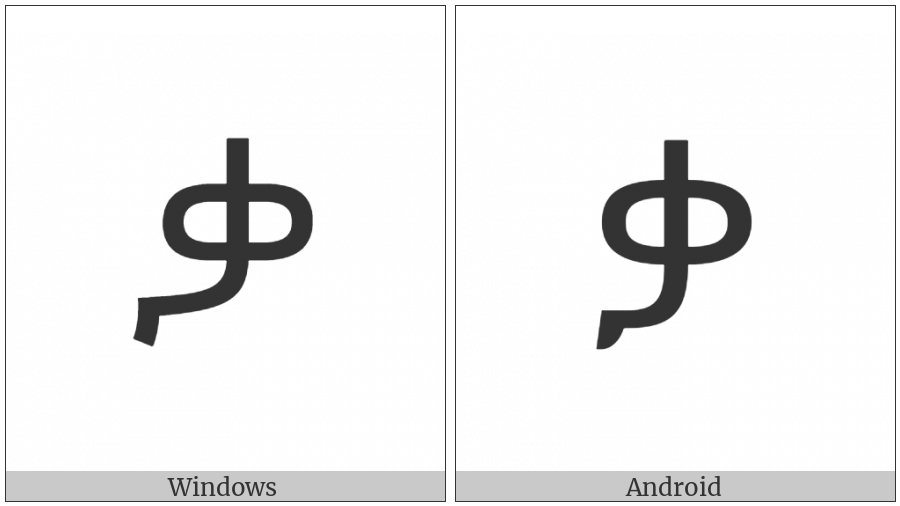 Ethiopic Syllable Qaa on various operating systems