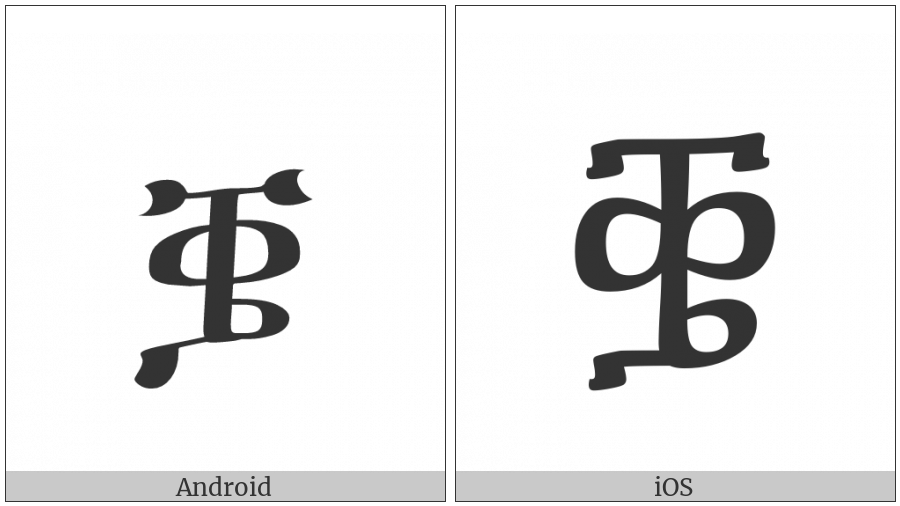 Ethiopic Syllable Qhwee on various operating systems