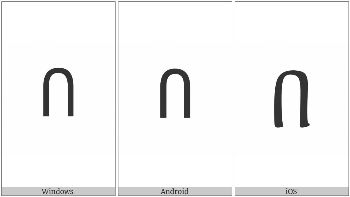 Ethiopic Syllable Ba on various operating systems