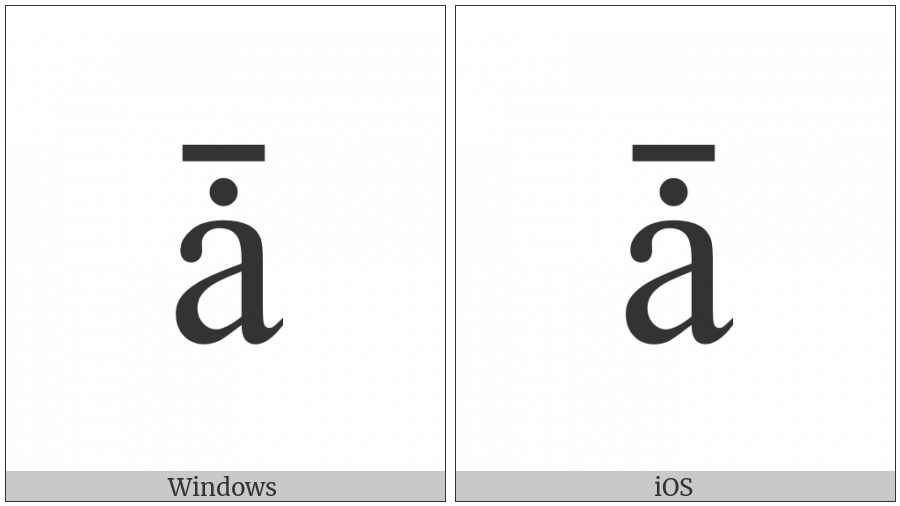 LATIN SMALL LETTER A WITH DOT ABOVE AND MACRON utf-8 character