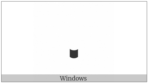 Ethiopic Tonal Mark Yizet on various operating systems