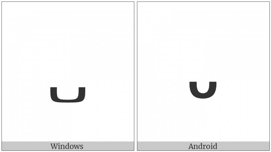 Ethiopic Tonal Mark Deret on various operating systems