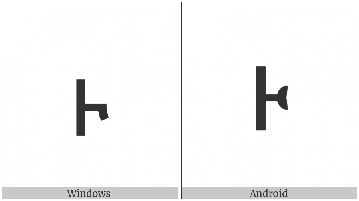 Ethiopic Tonal Mark Kurt on various operating systems