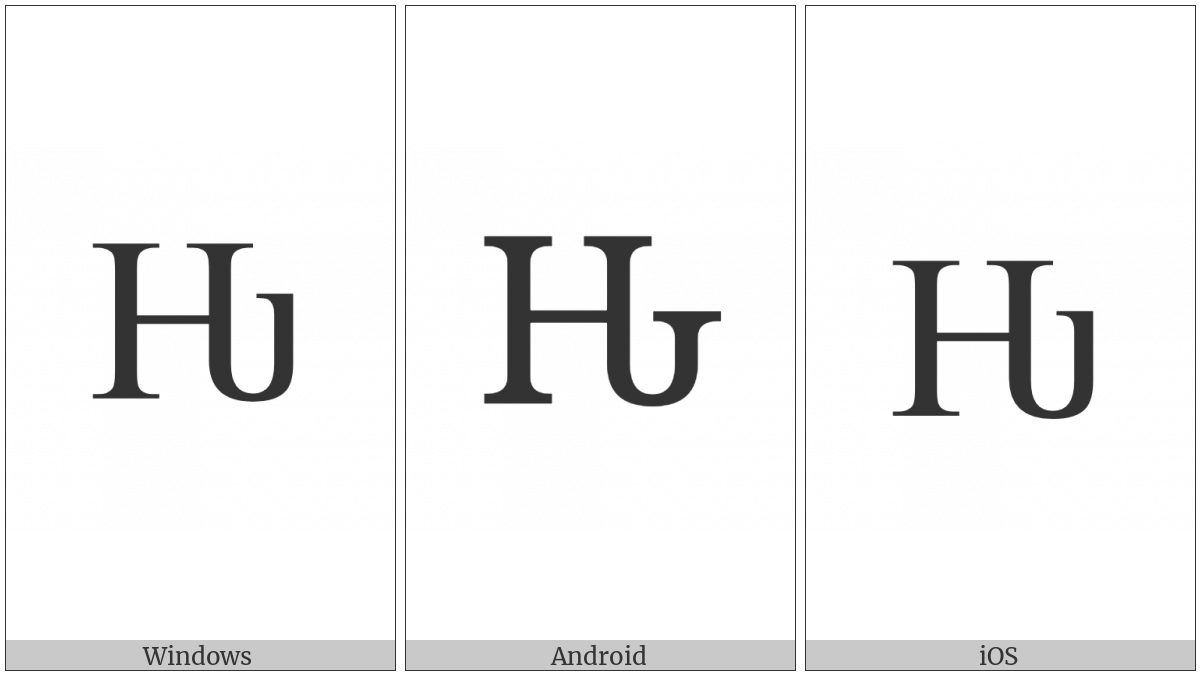Latin Capital Letter Hwair on various operating systems