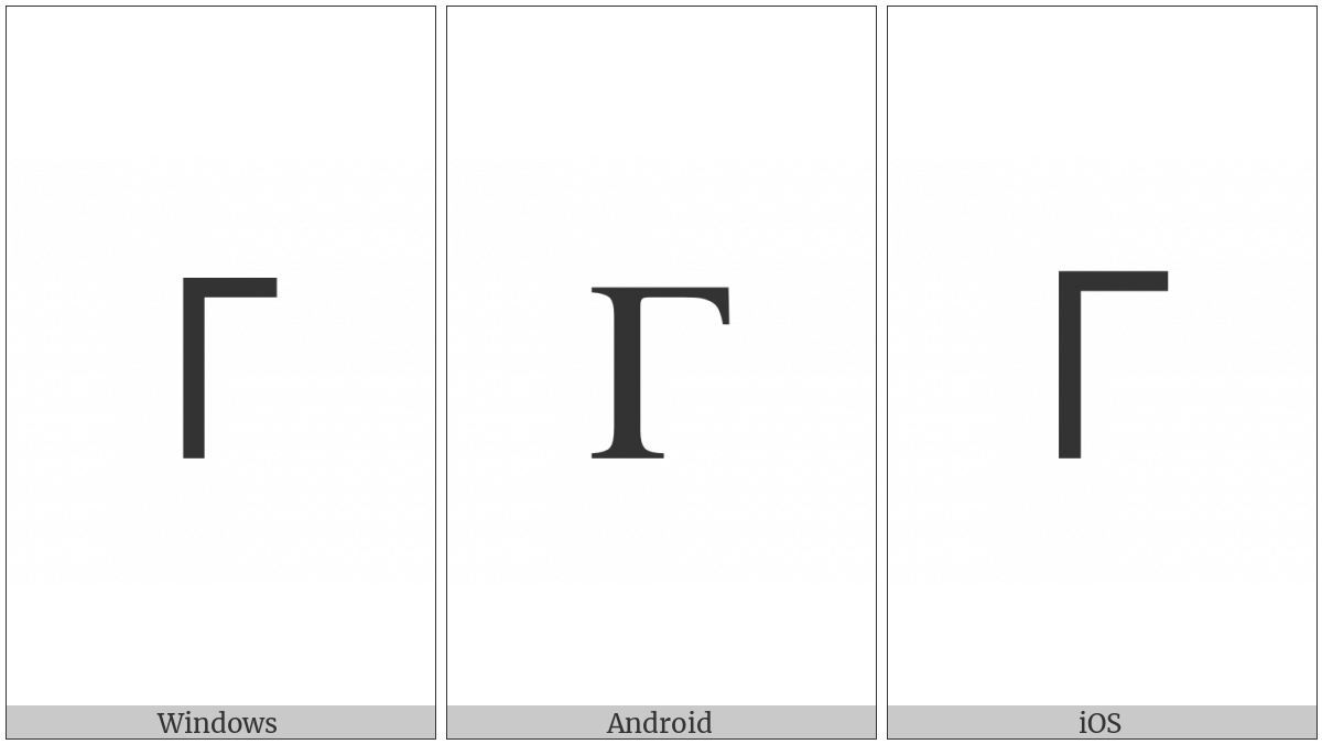 Cherokee Letter Hu on various operating systems