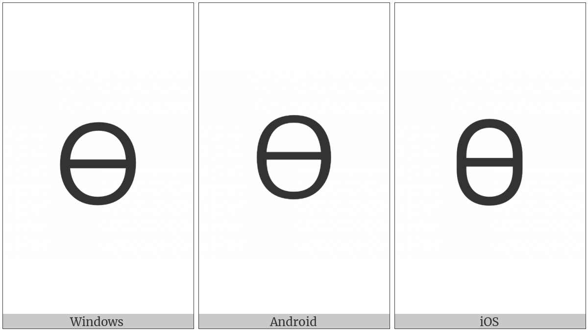 Cherokee Letter Na on various operating systems