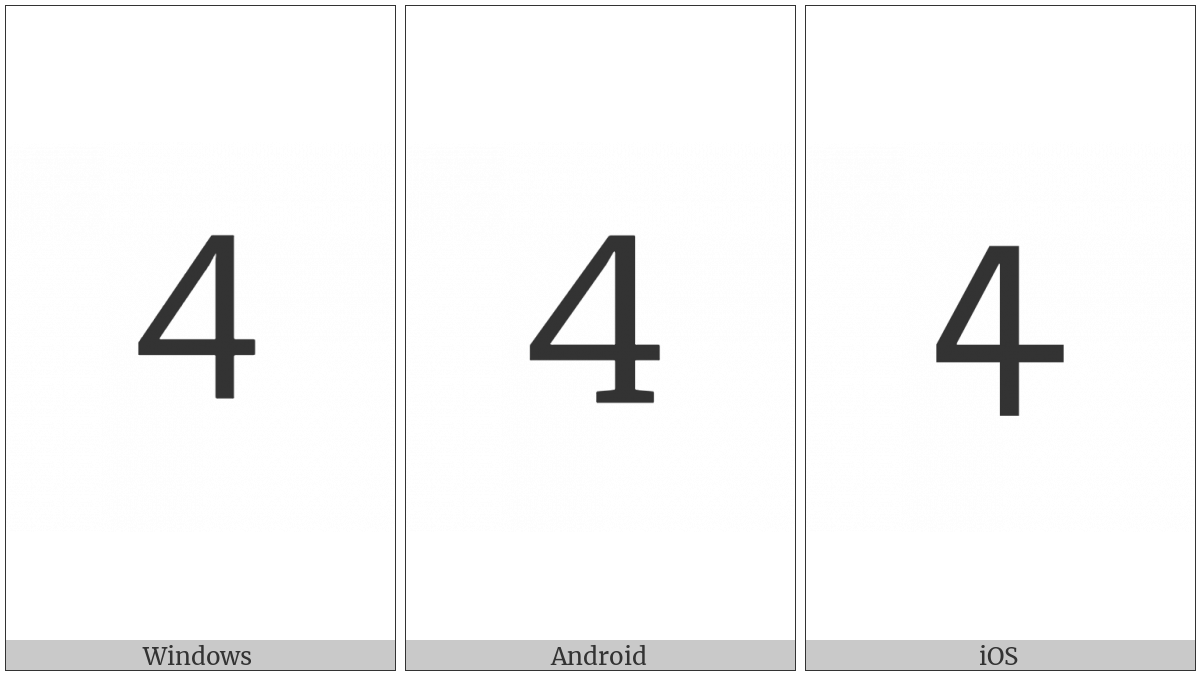 Cherokee Letter Se on various operating systems