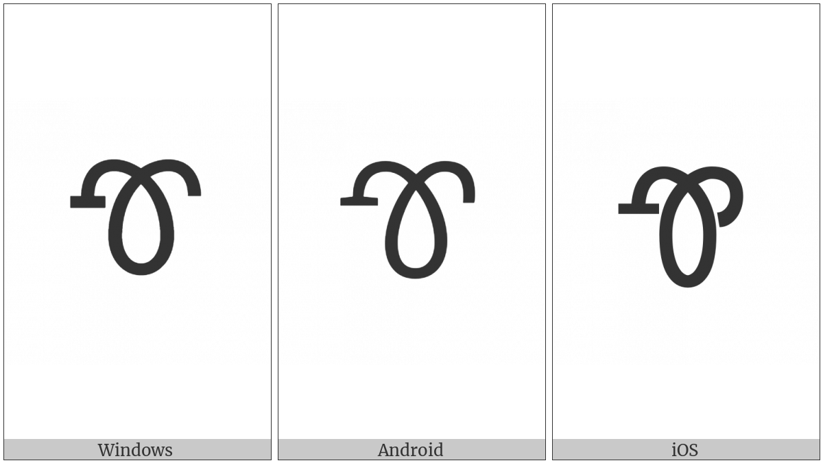 Cherokee Letter Tlu on various operating systems