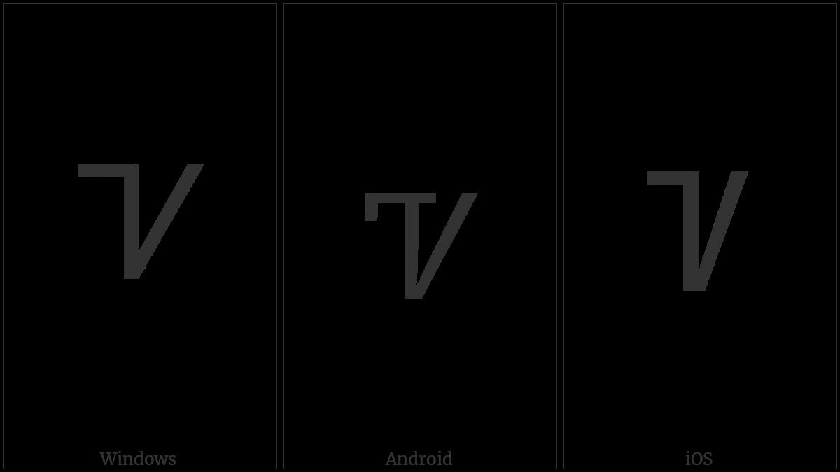 Cherokee Letter Tse on various operating systems