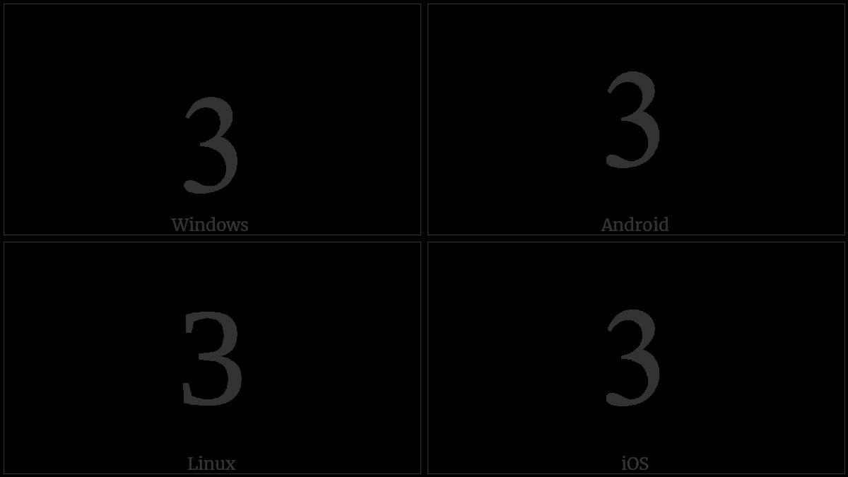 DIGIT THREE utf-8 character