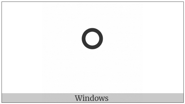 Canadian Syllabics Final Ring on various operating systems
