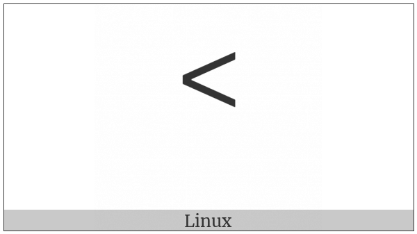 Canadian Syllabics P on various operating systems
